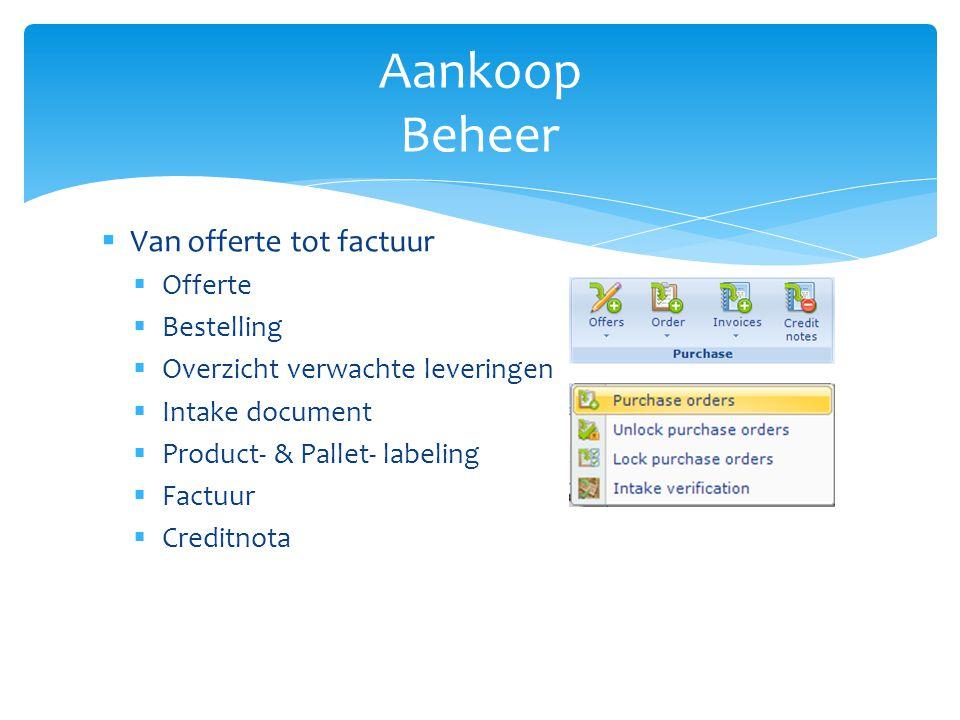 Aankoop Beheer Van offerte tot factuur Offerte Bestelling