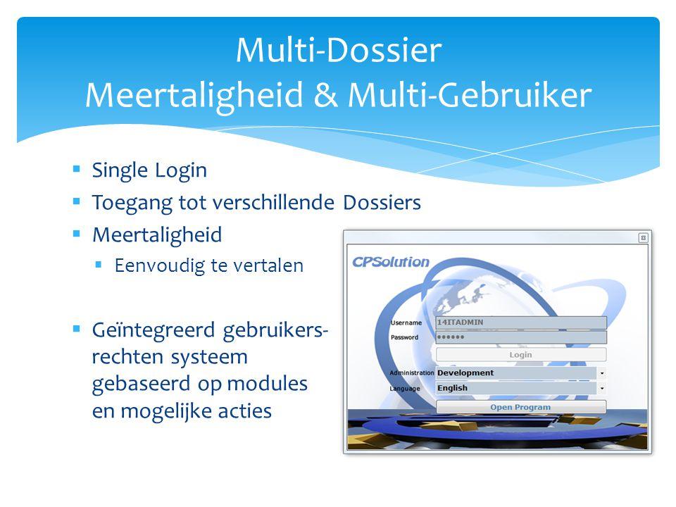 Multi-Dossier Meertaligheid & Multi-Gebruiker