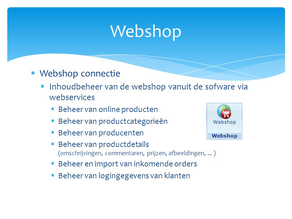 Webshop Webshop connectie