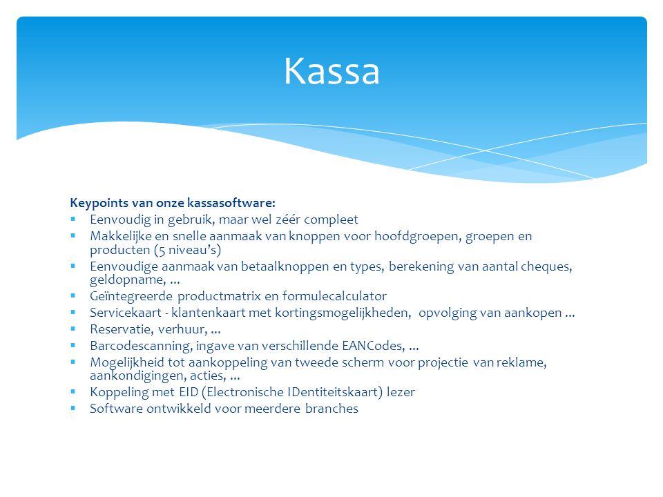 Kassa Keypoints van onze kassasoftware: