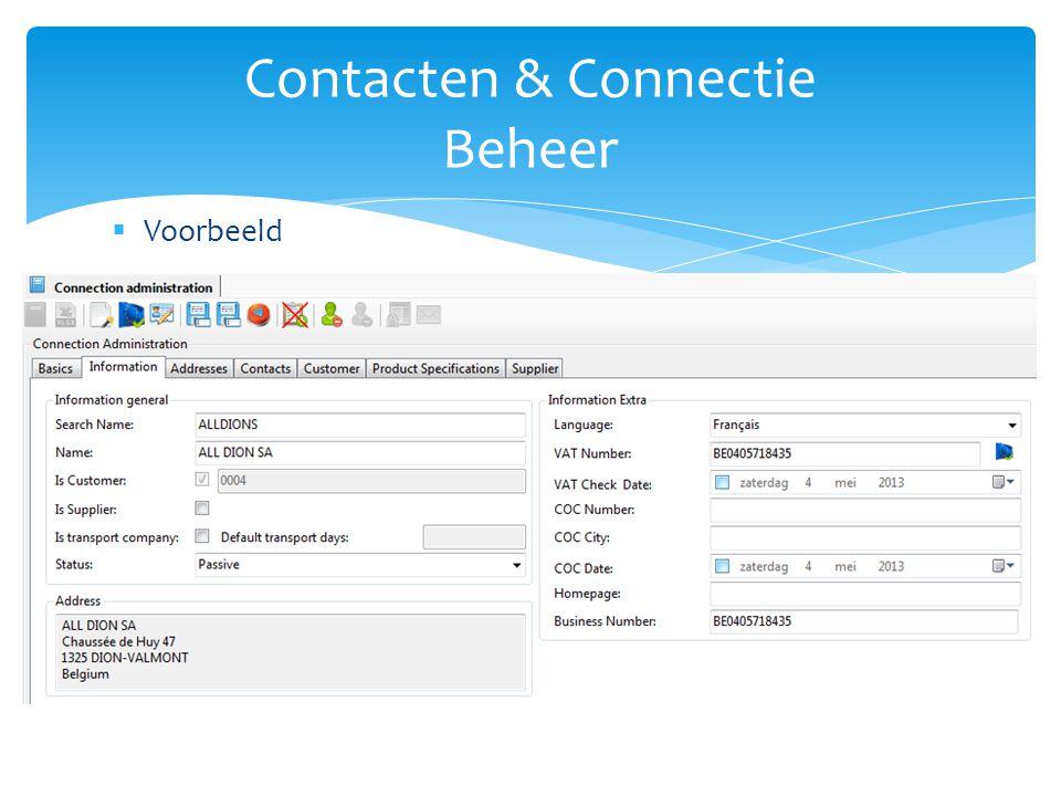 Contacten & Connectie Beheer
