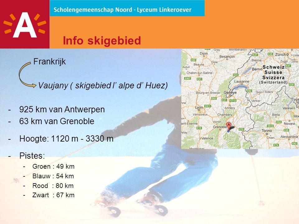 Info skigebied Frankrijk Vaujany ( skigebied l' alpe d' Huez)