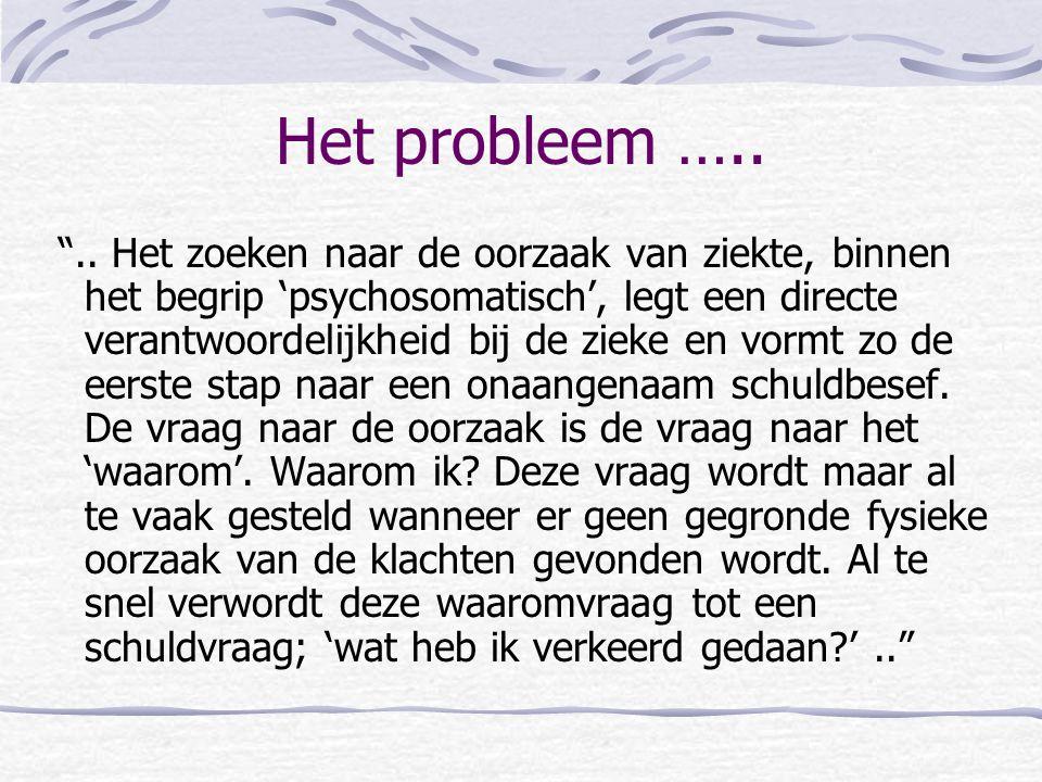 Het probleem …..