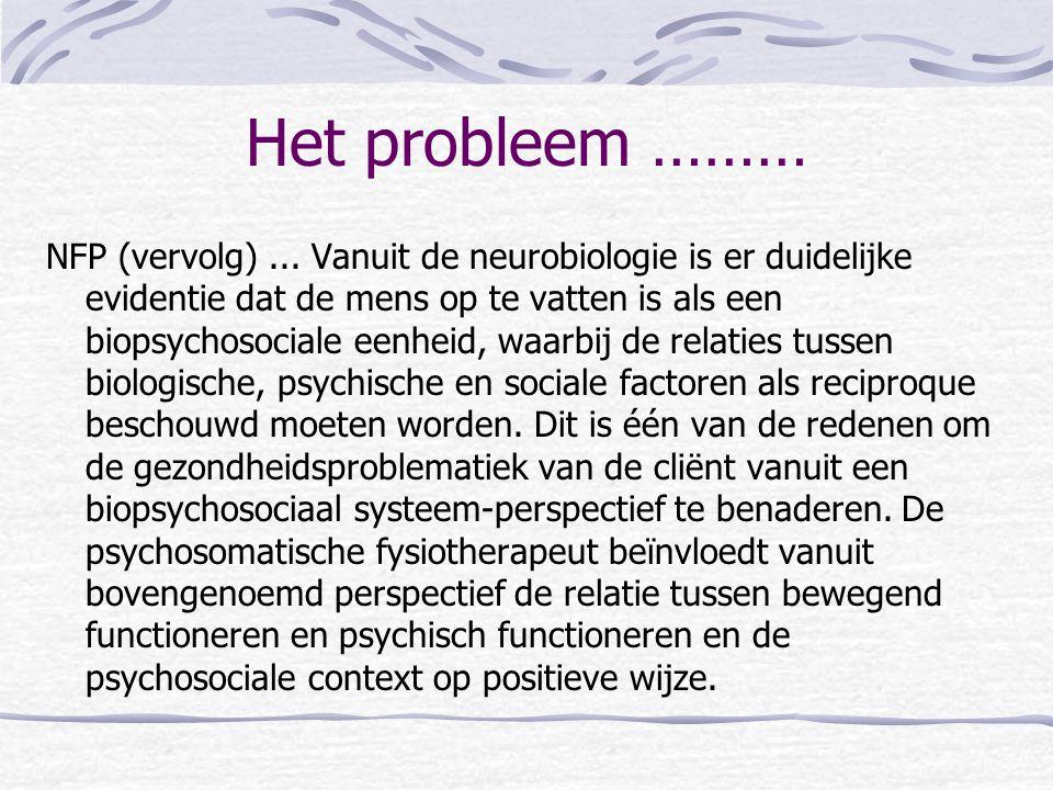 Het probleem ………