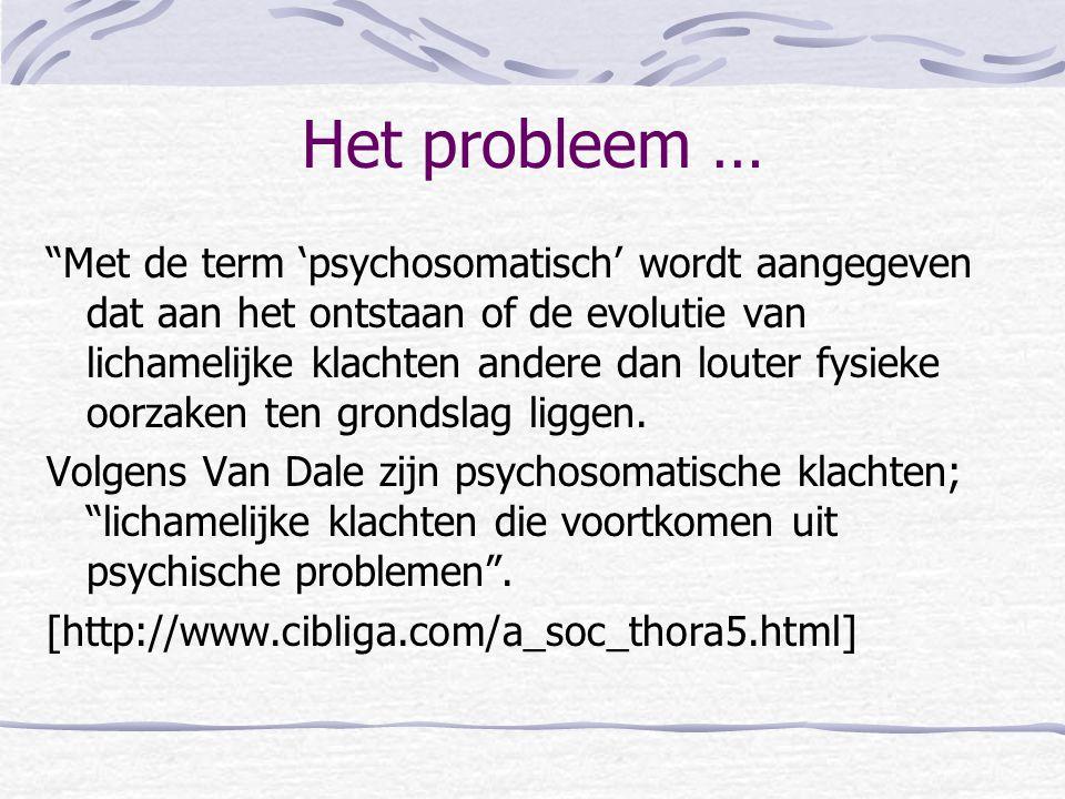 Het probleem …