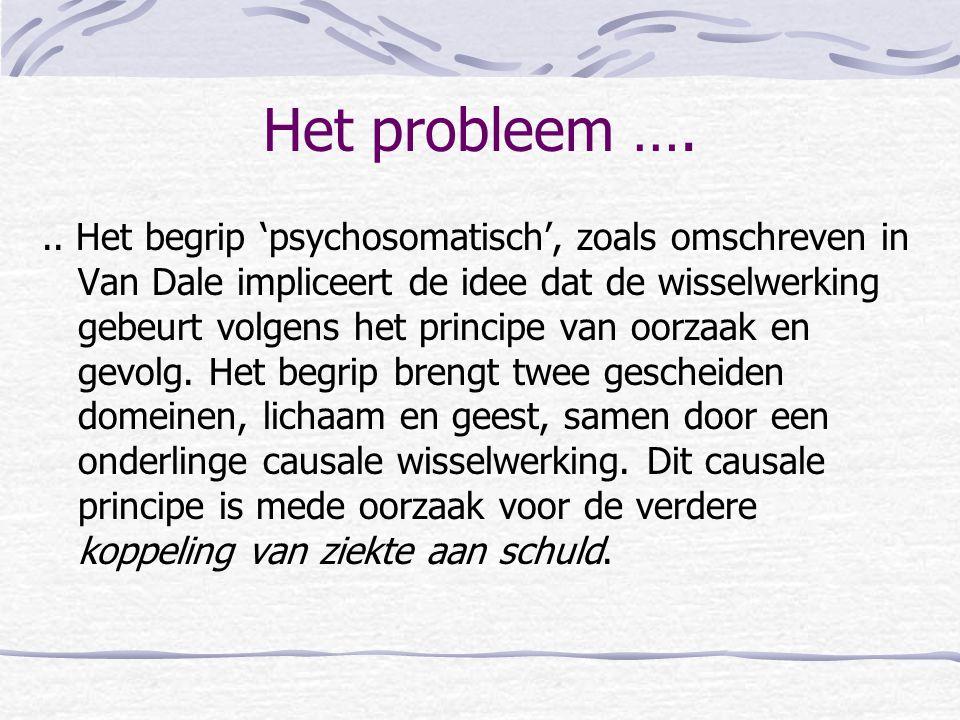 Het probleem ….