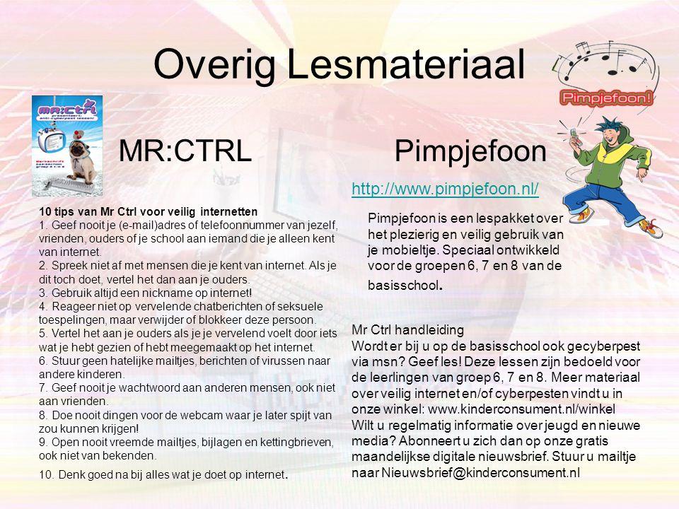Overig Lesmateriaal MR:CTRL Pimpjefoon http://www.pimpjefoon.nl/