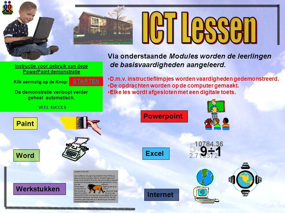 ICT Lessen Via onderstaande Modules worden de leerlingen