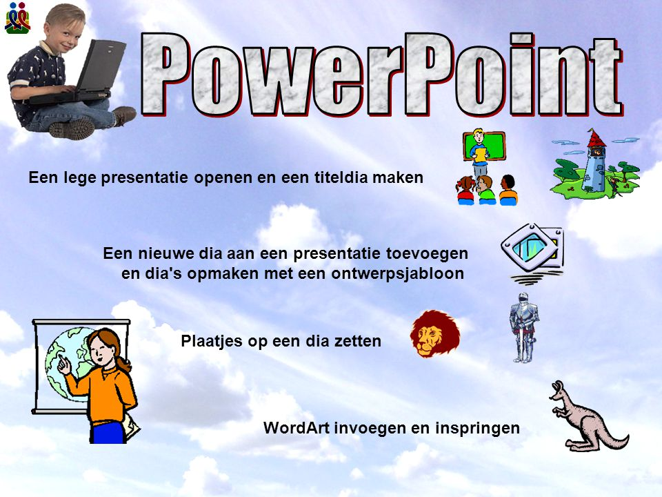PowerPoint Een lege presentatie openen en een titeldia maken