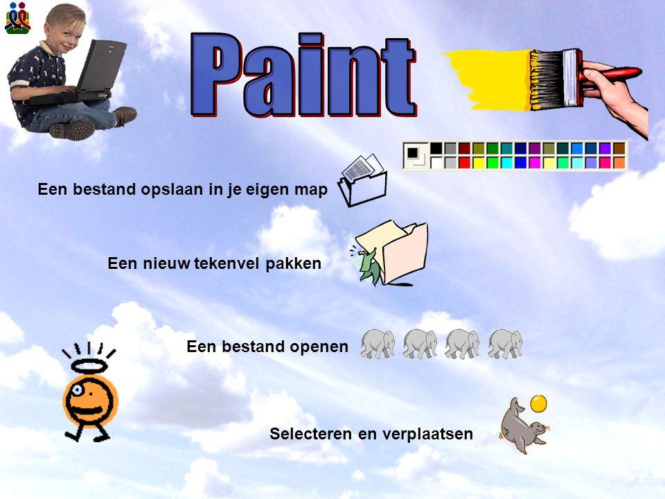 Paint Een bestand opslaan in je eigen map Een nieuw tekenvel pakken