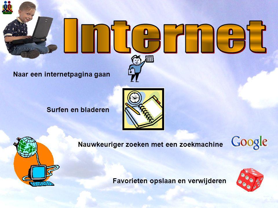 Internet Naar een internetpagina gaan Surfen en bladeren