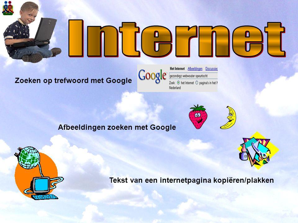 Internet Zoeken op trefwoord met Google Afbeeldingen zoeken met Google
