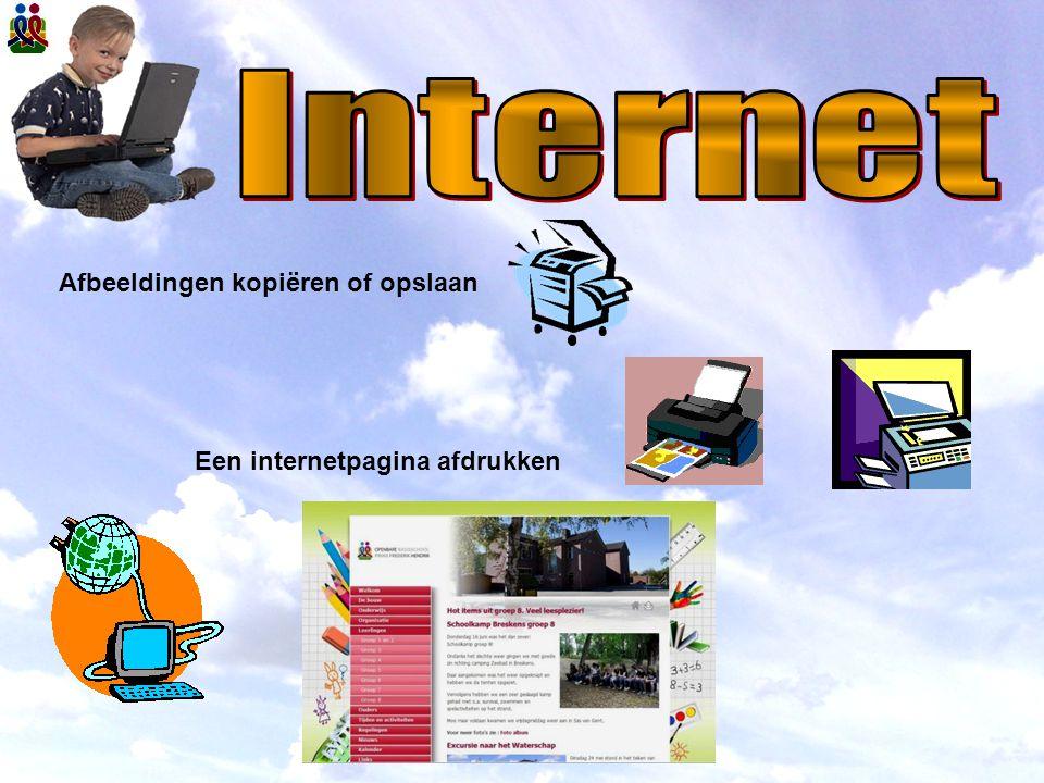 Internet Afbeeldingen kopiëren of opslaan Een internetpagina afdrukken