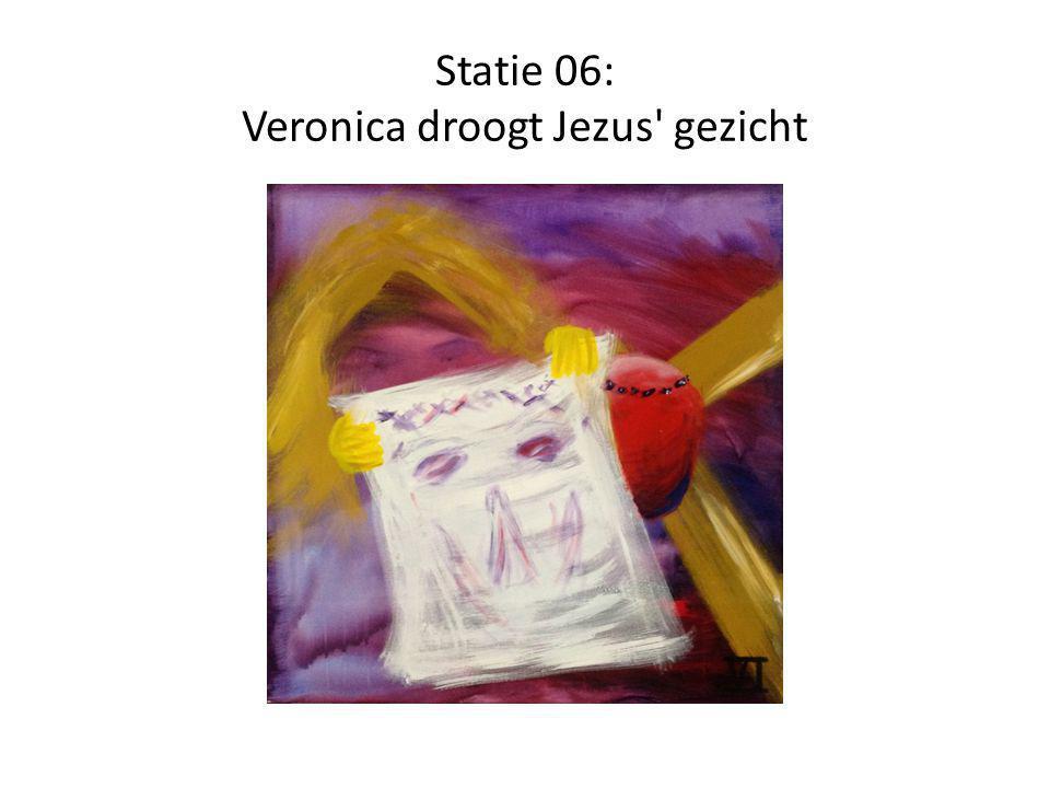 Statie 06: Veronica droogt Jezus gezicht