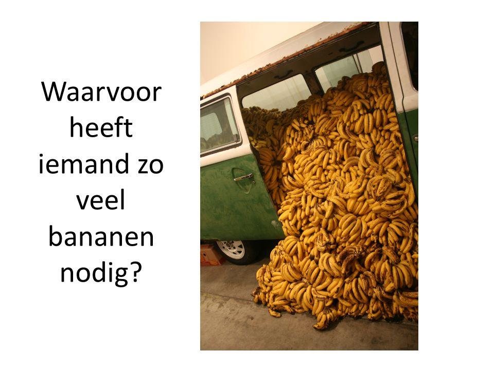 Waarvoor heeft iemand zo veel bananen nodig