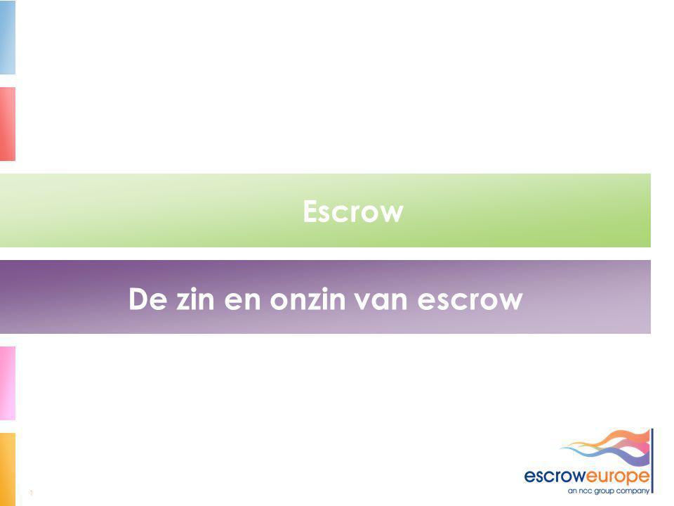 De zin en onzin van escrow