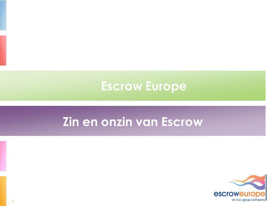 Escrow Europe Zin en onzin van Escrow