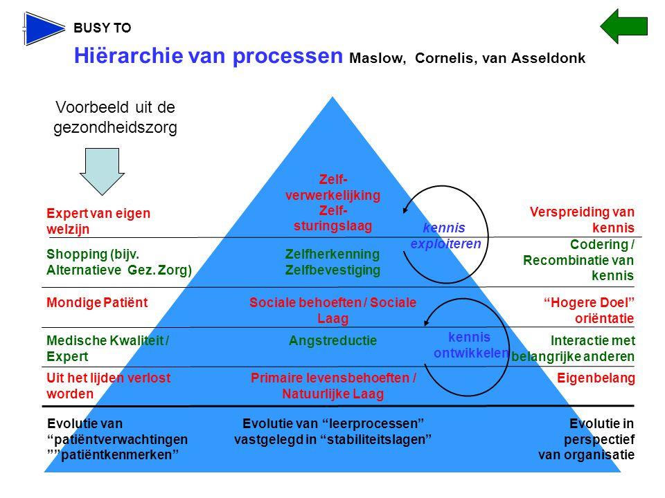 Hiërarchie van processen Maslow, Cornelis, van Asseldonk