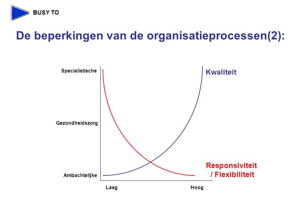 De beperkingen van de organisatieprocessen(2):