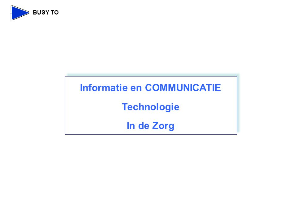 Informatie en COMMUNICATIE Technologie