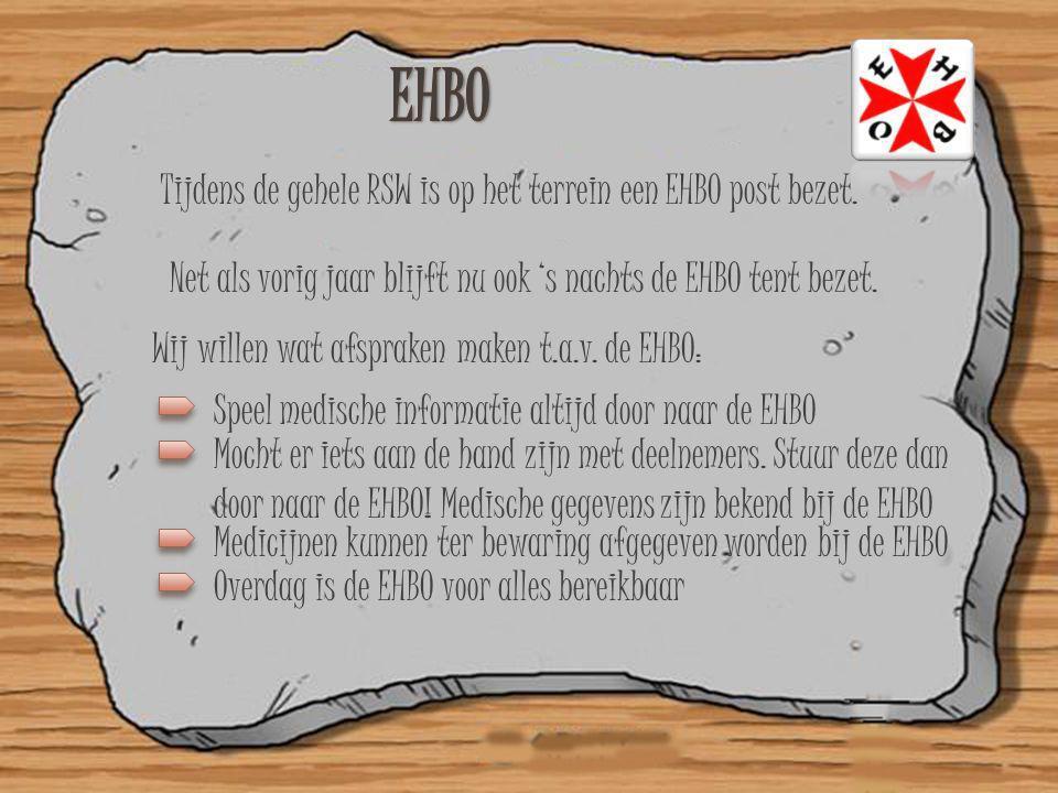 EHBO Tijdens de gehele RSW is op het terrein een EHBO post bezet.