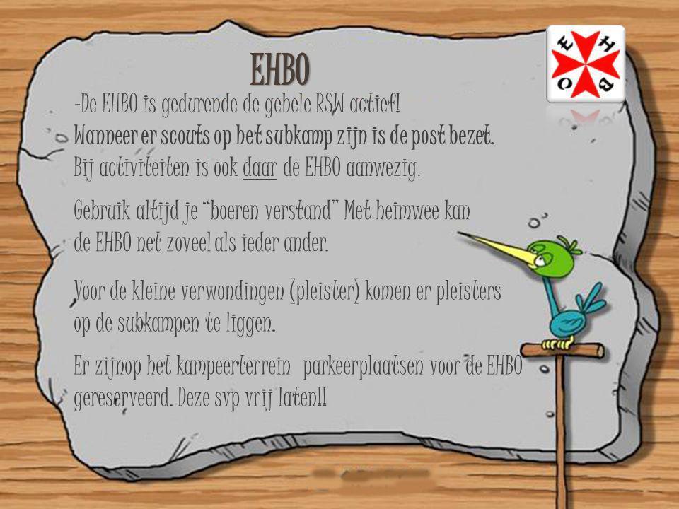 EHBO De EHBO is gedurende de gehele RSW actief!