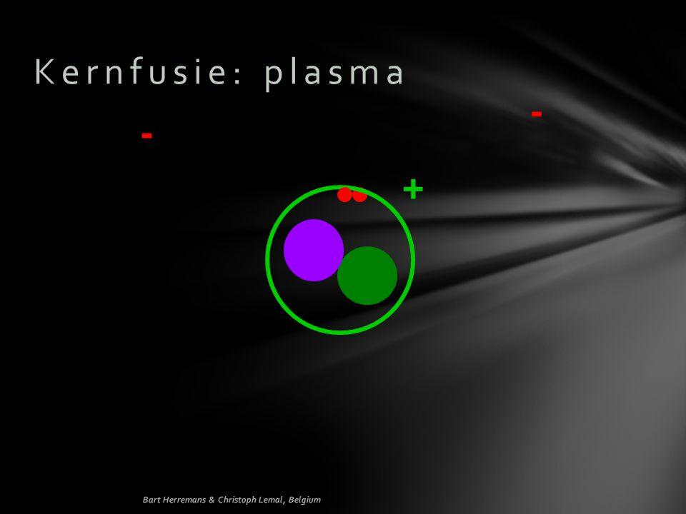 - - + Kernfusie: plasma Structuur Werkt als geleider