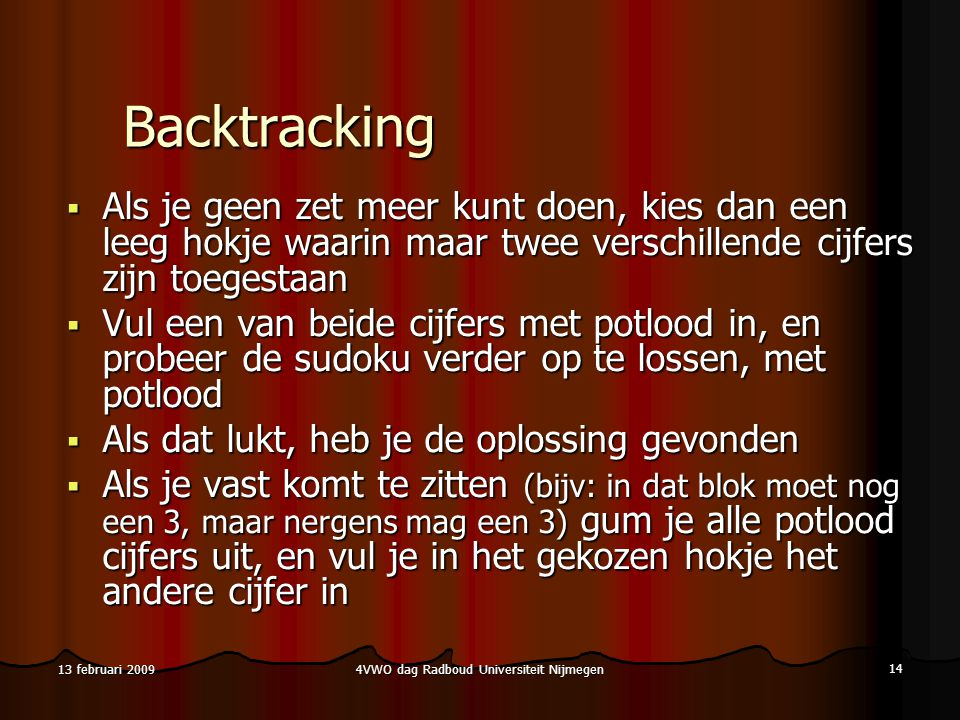 4VWO dag Radboud Universiteit Nijmegen