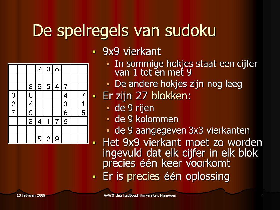 De spelregels van sudoku