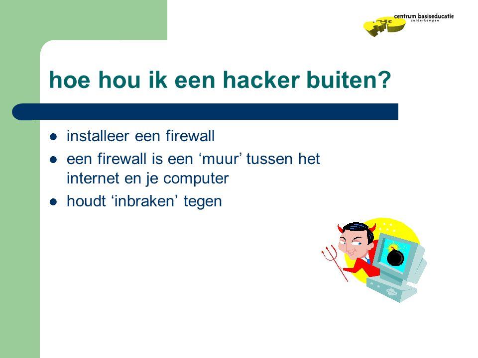 hoe hou ik een hacker buiten