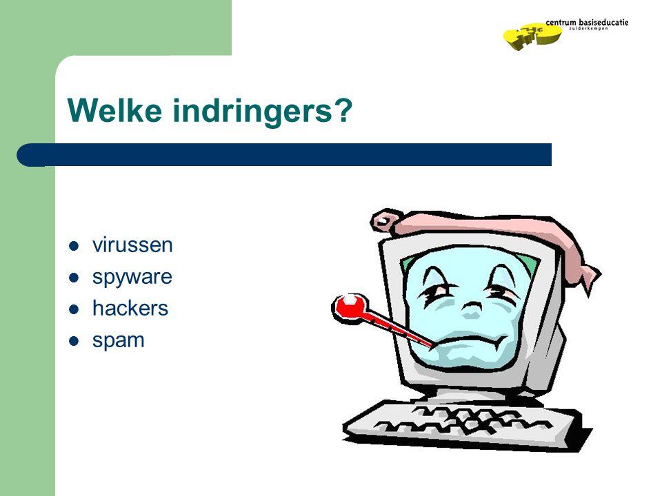 Welke indringers virussen spyware hackers spam
