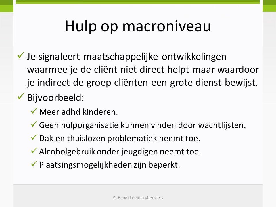 Hulp op macroniveau