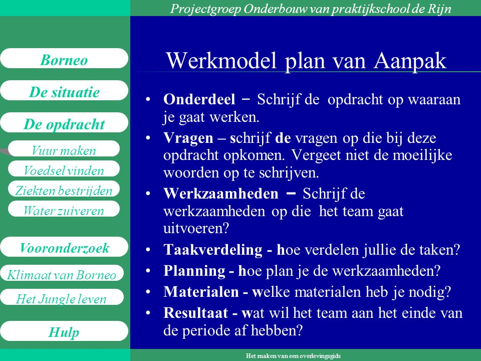 Werkmodel plan van Aanpak