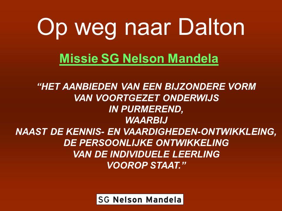 Op weg naar Dalton Missie SG Nelson Mandela