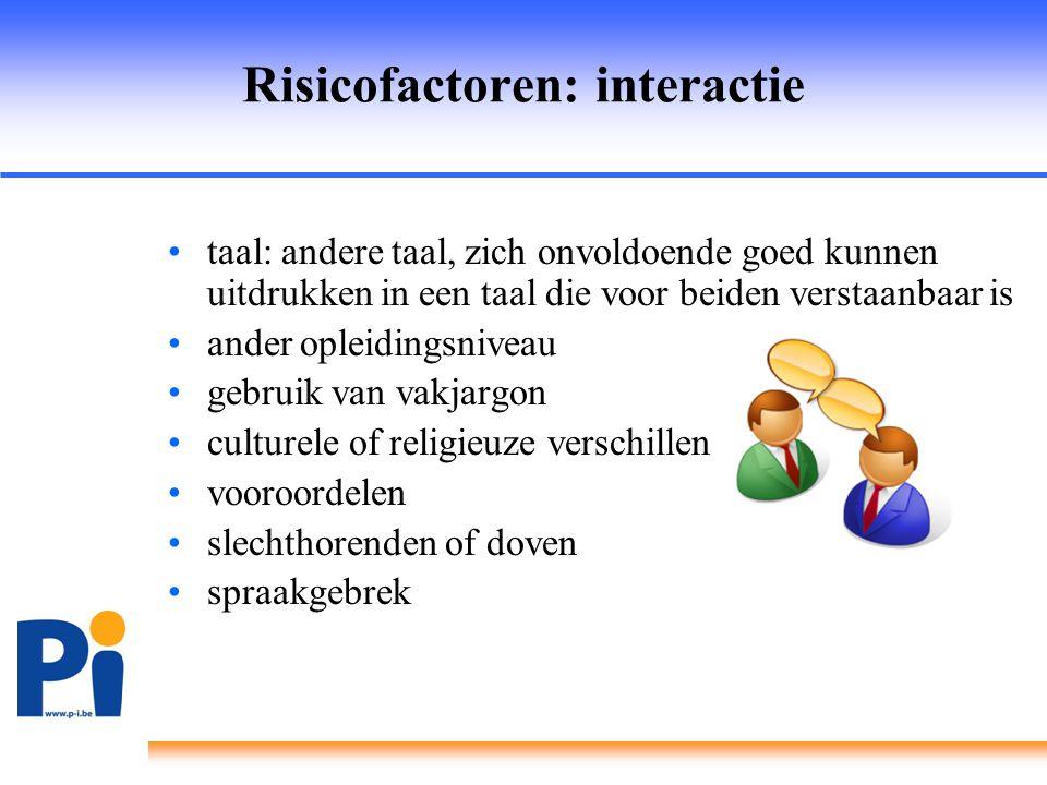 Risicofactoren: interactie