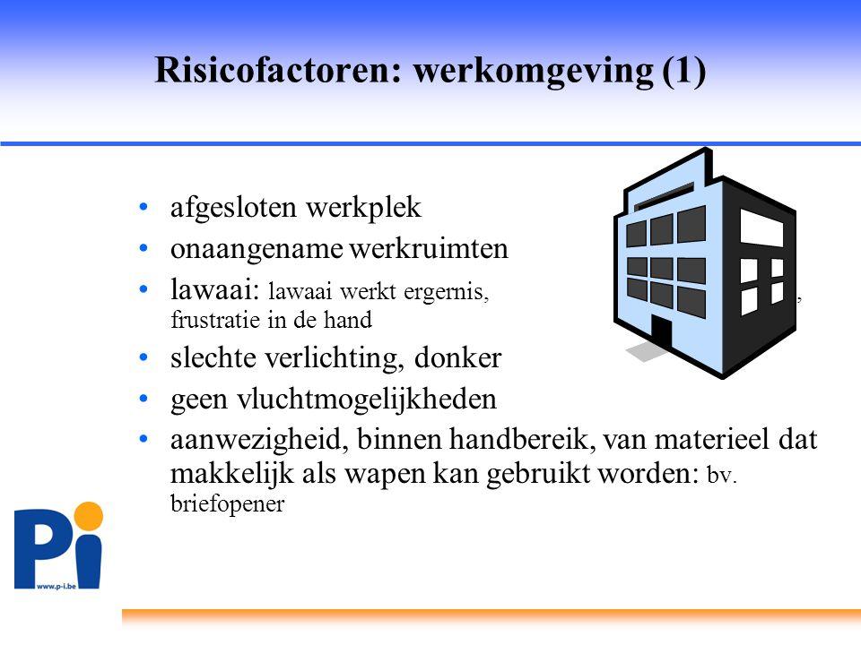 Risicofactoren: werkomgeving (1)