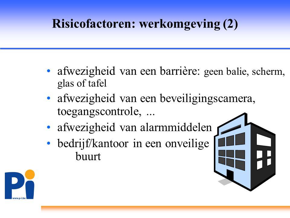 Risicofactoren: werkomgeving (2)