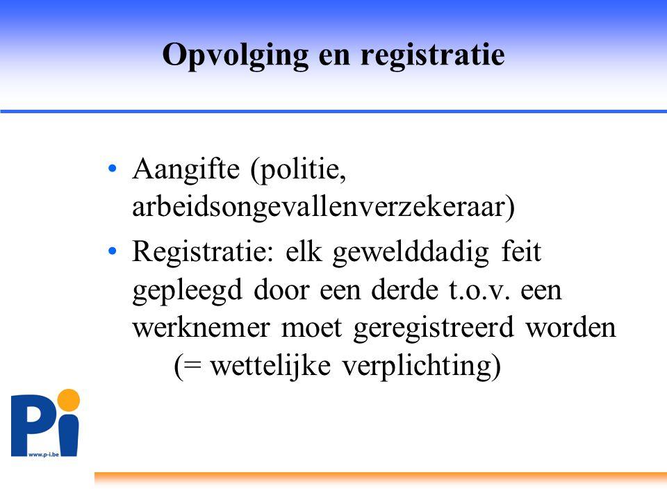 Opvolging en registratie
