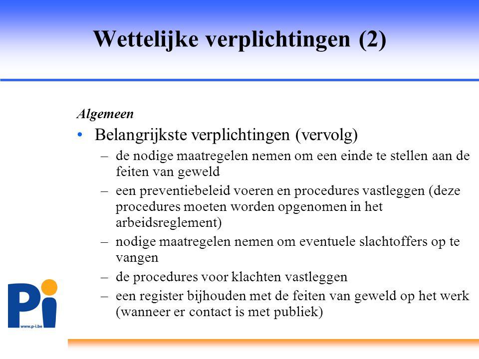 Wettelijke verplichtingen (2)