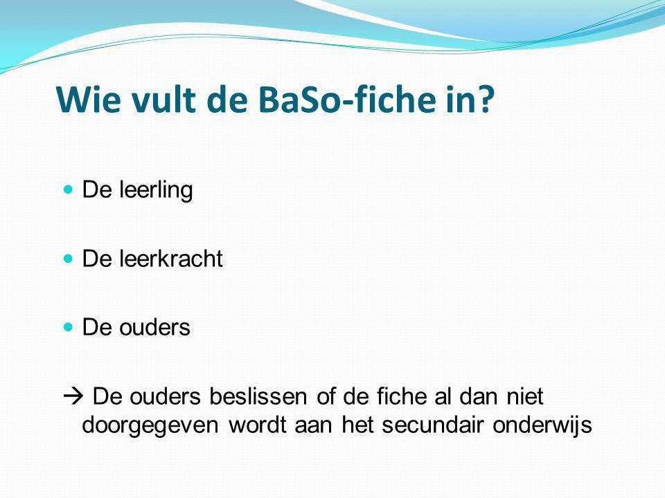 Wie vult de BaSo-fiche in