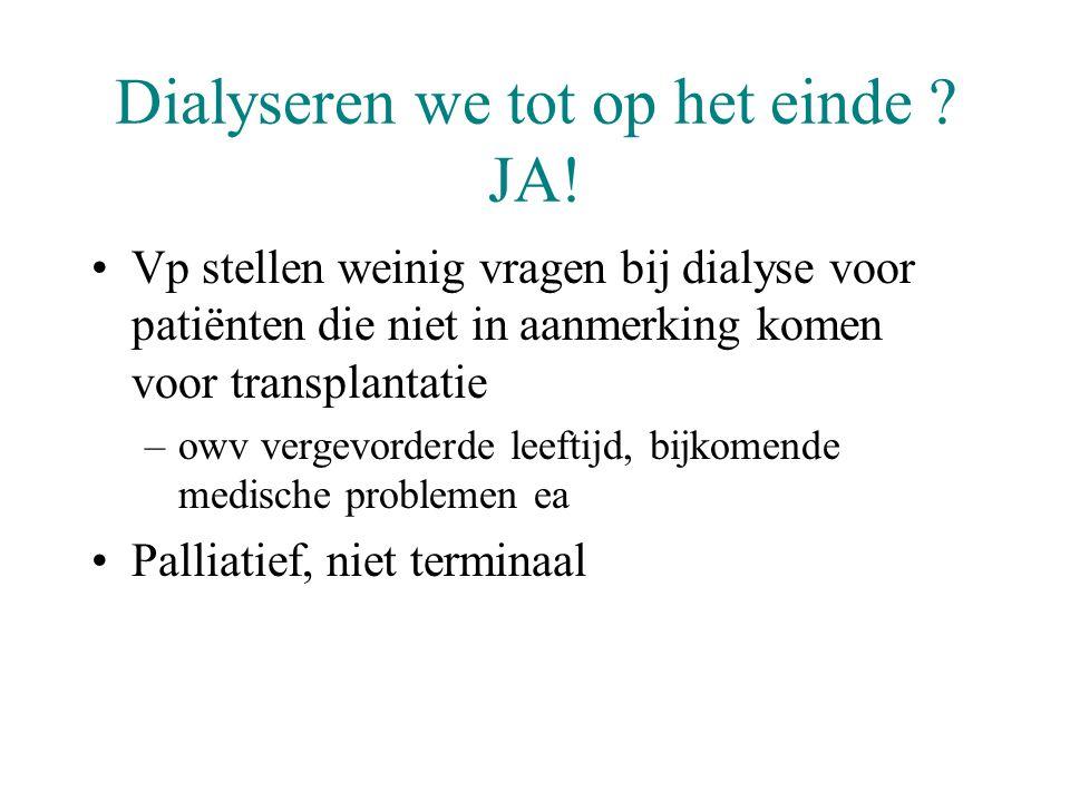 Dialyseren we tot op het einde JA!