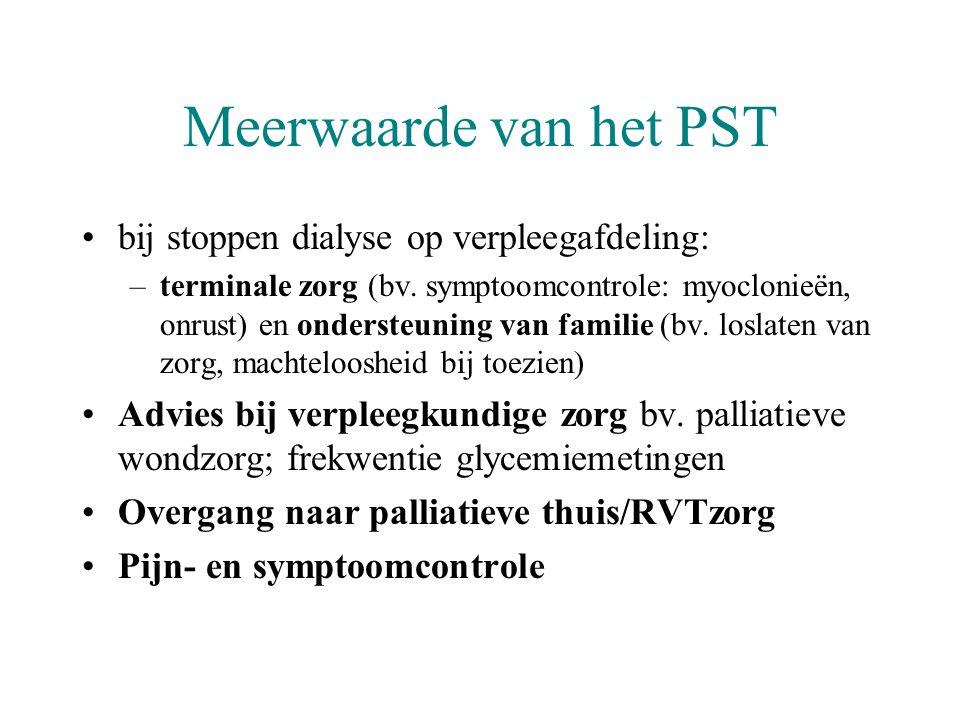 Meerwaarde van het PST bij stoppen dialyse op verpleegafdeling: