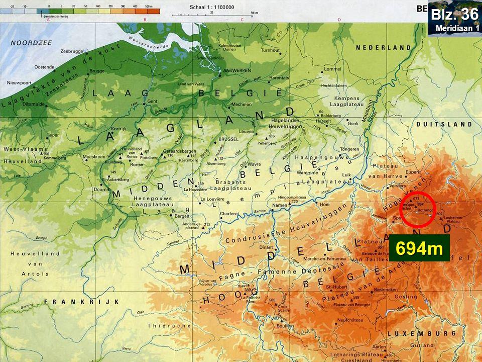 Bepaal de hoogte van: Botrange= 694m Blz. 36 Signal de Botrange