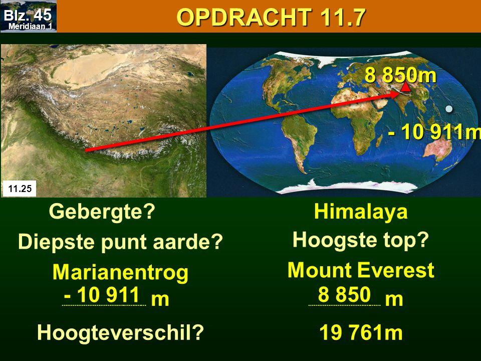 OPDRACHT 11.7 8 850m - 10 911m Gebergte Himalaya Diepste punt aarde