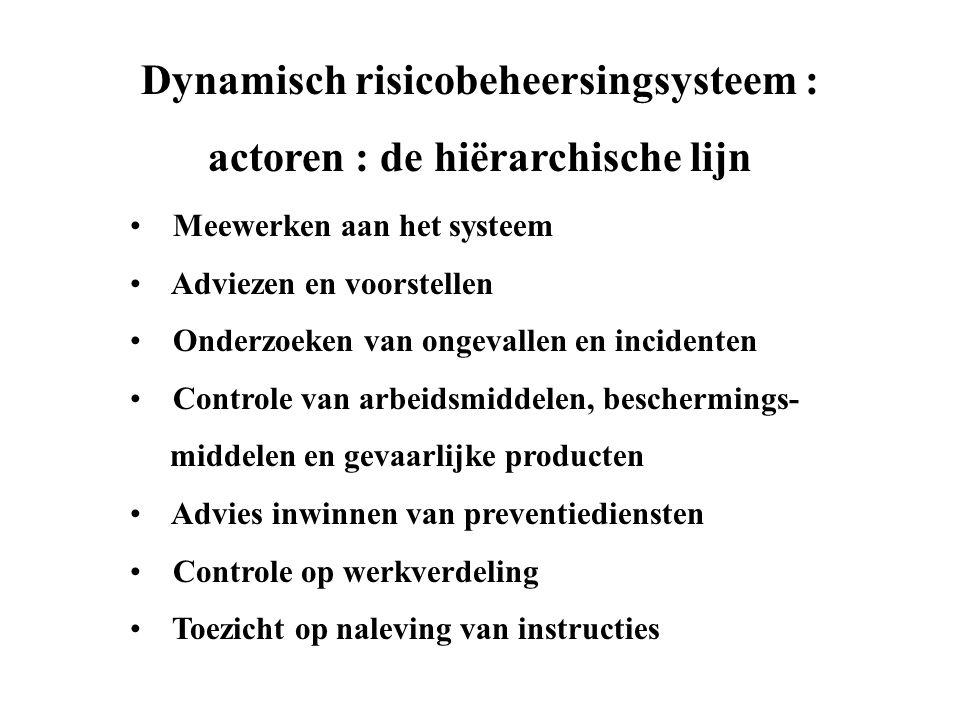 Dynamisch risicobeheersingsysteem : actoren : de hiërarchische lijn