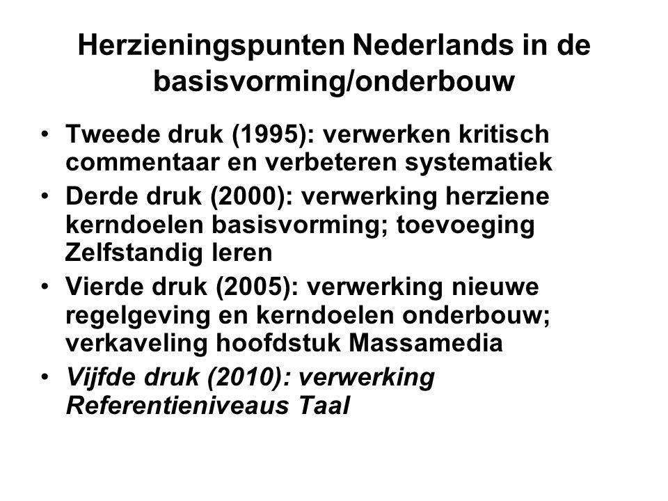Herzieningspunten Nederlands in de basisvorming/onderbouw