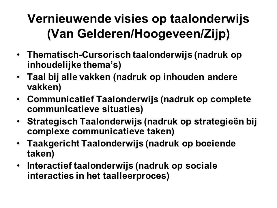 Vernieuwende visies op taalonderwijs (Van Gelderen/Hoogeveen/Zijp)