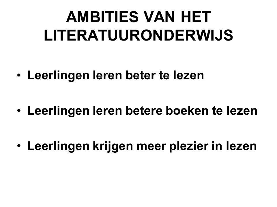 AMBITIES VAN HET LITERATUURONDERWIJS