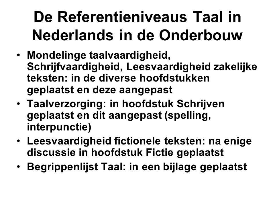 De Referentieniveaus Taal in Nederlands in de Onderbouw