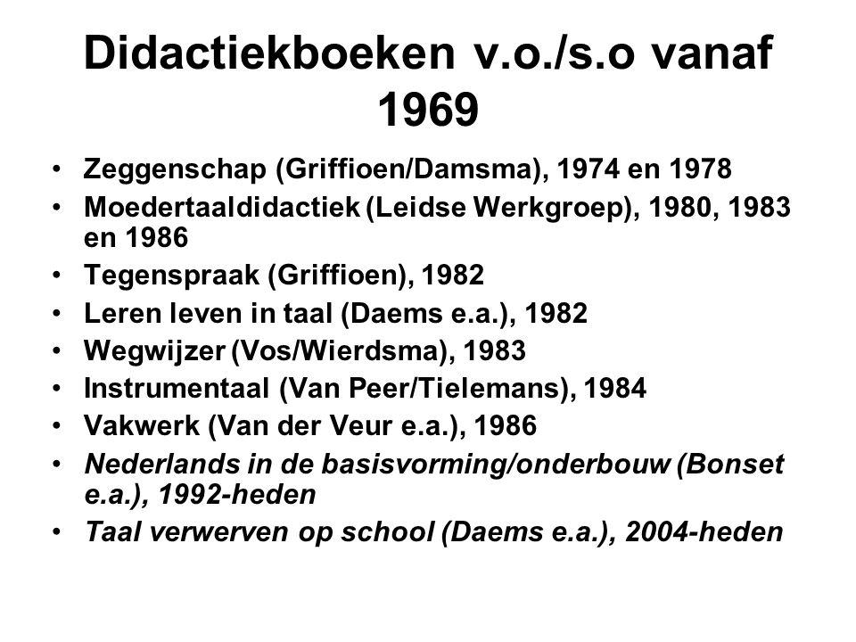 Didactiekboeken v.o./s.o vanaf 1969